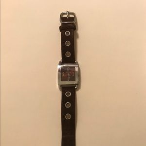 Authentic COACH Watch Brown Suede Strap